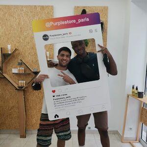 Super rencontre de la journée chez #PurpleStoreBastille avec @gregdirector et @haiidarabs !