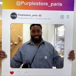 @shrlogan est passé chez #PurpleStore !  ✅ Pour lui la boutique est validée   #PurpleStore #CBDParis #CBDStore #CBDShop