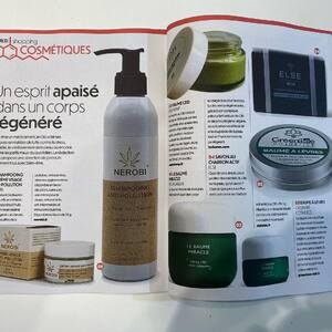 Merci CBD Magazine pour cette présentation des cosmétiques au chanvre #Nerobi dans le numéro 2 !
